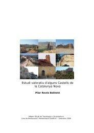 Estudi valoratiu d'alguns Castells de la Catalunya Nova