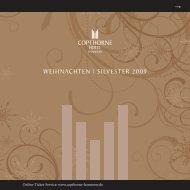 WEIHNACHTEN | SILVESTER 2009 - Copthorne Hotel Laatzen