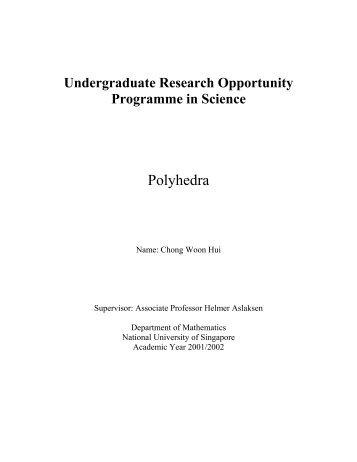 Polyhedra - Department of Mathematics