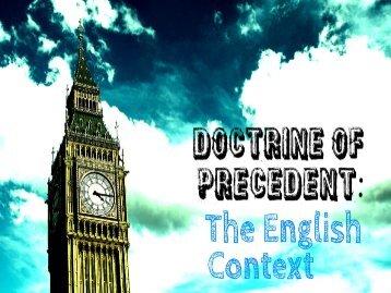 Doctrine Of Precedent