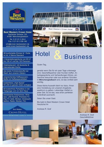 Hausprospekt 2011 - Best Western Crown Hotel Mönchengladbach