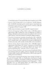 Relazione della Giuria 28^ edizione 1998 - Provincia di Padova