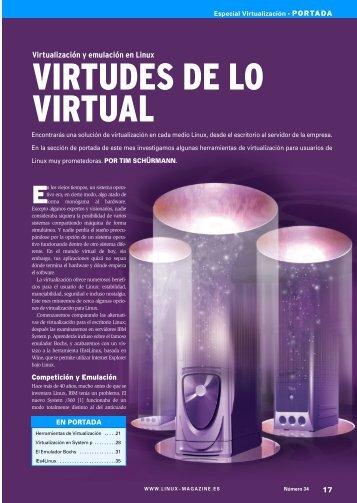 Virtudes de lo Virtual: [PDF, 1016 kB] - Linux Magazine