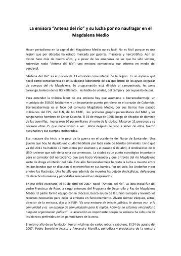 """La emisora """"Antena del río"""" - Fundación para la Libertad de Prensa"""