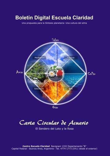 Carta Circular de Acuario - Centro Escuela Claridad