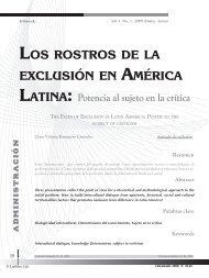 Los rostros de la exclusión en América Latina - Universidad Libre