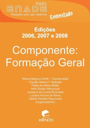 ENADE COMENTADO 2008 - pucrs