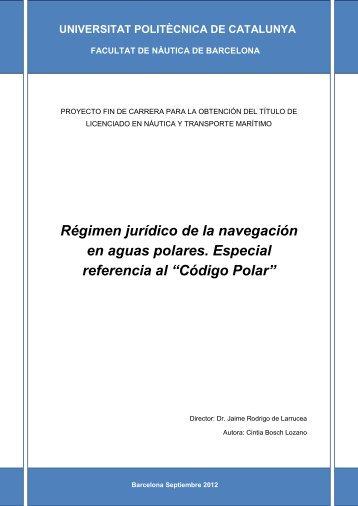 Régimen Jurídico de la navegación en aguas ... - UPCommons