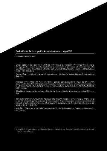 Evolución de la Navegación Astronómica en el siglo XIX. IN: Historia ...
