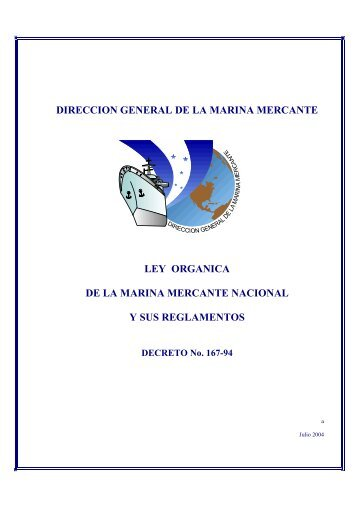 DIRECCION GENERAL DE LA MARINA MERCANTE LEY ...