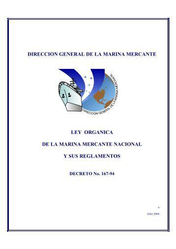 DIRECCION GENERAL DE LA MARINA MERCANTE LEY ...