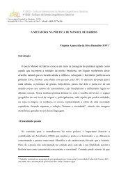 A METÁFORA NA PÓETICA DE MANOEL DE BARROS ... - Cielli