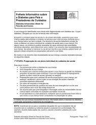Folheto Informativo sobre a Diabetes para Pais e Prestadores de ...