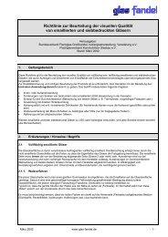 Richtlinie zur Beurteilung der visuellen Qualität von ... - Glas Fandel