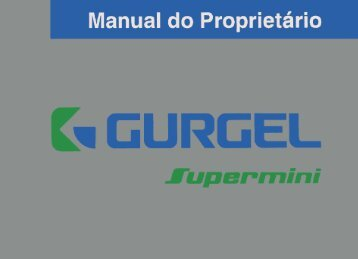 Manual do Proprietário Gurgel Supermini - Gurgel Clube