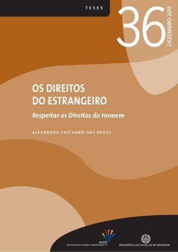 os direitos do estrangeiro - Observatório da Imigração - Alto ...