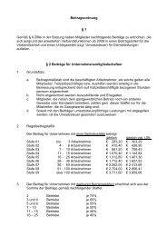 Beitragsordnung § 1 Gemäß § 6 Ziffer 4 der ... - DEHOGA Nordrhein