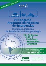 VII Congreso Argentino de Medicina de Emergencias
