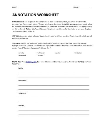 Enzyme Annotation Worksheet by aaron_chandler - Teaching Resources ...