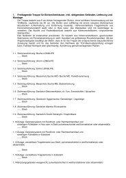 Ausschreibungstext für eine Freitragende Treppe ... - Gl-metallbau.de
