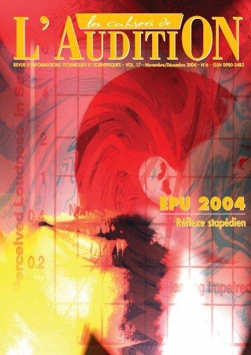 Télécharger le PDF complet N°6 Année 2004 - Collège National d ...