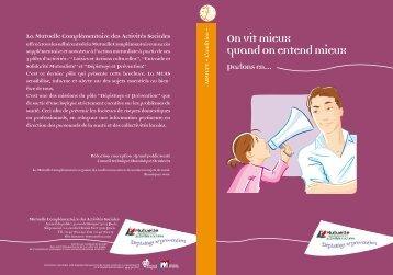 Télécharger la brochure - Mutuelle Complémentaire des activités ...