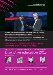 Disruptive education 2013