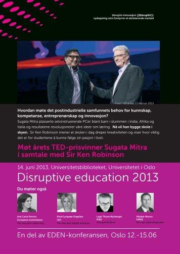 Disruptive education 2013