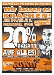 Großer Feuerwerks-Verkauf vom 28.12. bis 31.12.2012!