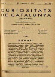 CU RIOSITATS DE CATALUNYA