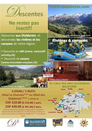 (€ 214.00) 1 pers. 214.00) 1 pers. CHF 449.00 - Diablerets