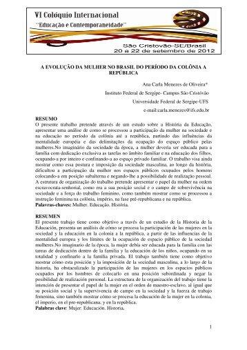 a evolução da mulher no brasil do período da colônia a república