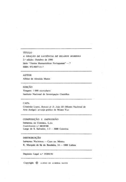 Oração de Sapiência de Hilário Moreira_1990.pdf - Universidade de ...