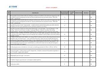 ANEXO I - DO OBJETO EQUIPAMENTOS MÉDICOS.pdf - FUSAM