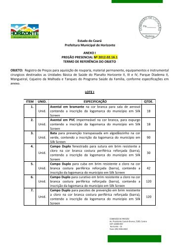 edital rp - 2012.02.16.1 - anexo i - TCM-CE