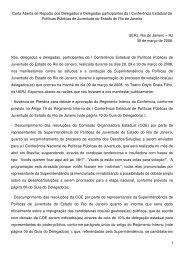 Carta Aberta de Repúdio dos Delegados e Delegadas ... - Ibase