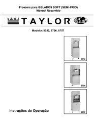Instruções de Operação - Taylor Company