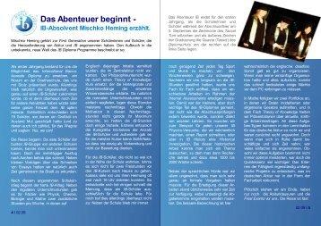 Das Abenteuer beginnt – IB-Absolvent Mischko ... - Goetheschule