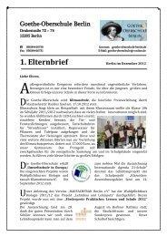 1. Elternbrief - Goethe Oberschule Berlin-Lichterfelde | Willkommen