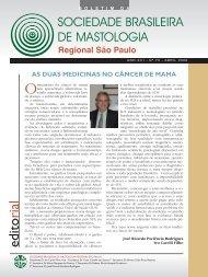 Abril 2008 - sociedade brasileira de mastologia - regional são paulo