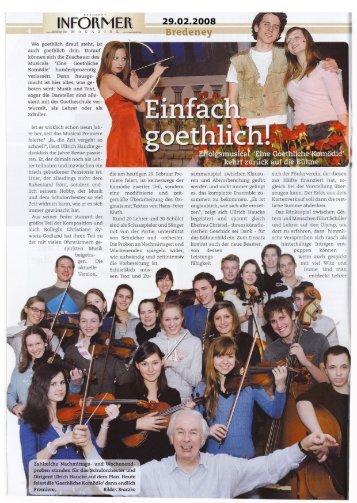 Artikel in der Location - Goetheschule