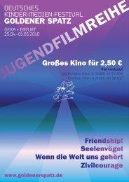 JUGENDFILMREIHE - Goldener Spatz