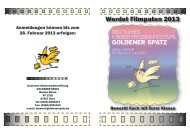 Werdet Filmpaten 2013 - Goldener Spatz