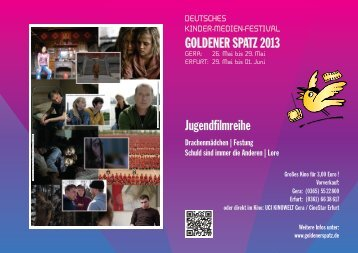 Download Flyer Jugendfilmreihe - Goldener Spatz