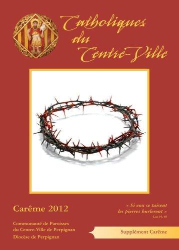 Supplément Carême 2012 - Diocèse de Perpignan