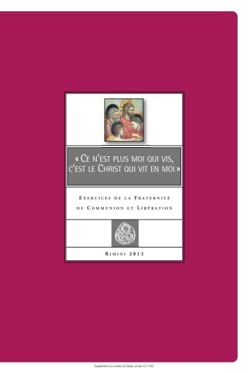 Télécharger le livret des exercices (PDF) - Communion and Liberation