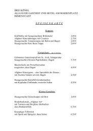 SPEISENKARTE - Gasthof Hotel Drei König