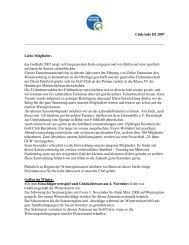 Club-Info III 2007 - Golf-Club Buxtehude