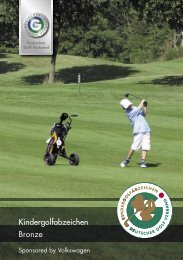 DGV-Kindergolfabzeichen in Bronze - Golf-Club Buxtehude