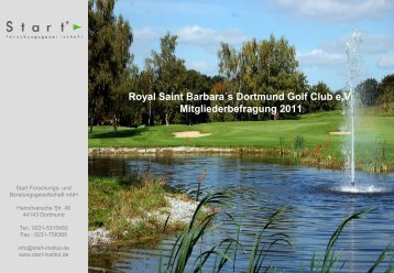 Kein Folientitel - Golfclub Dortmund